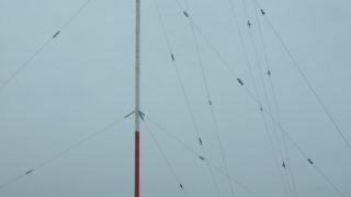 台風とラジオ送信所